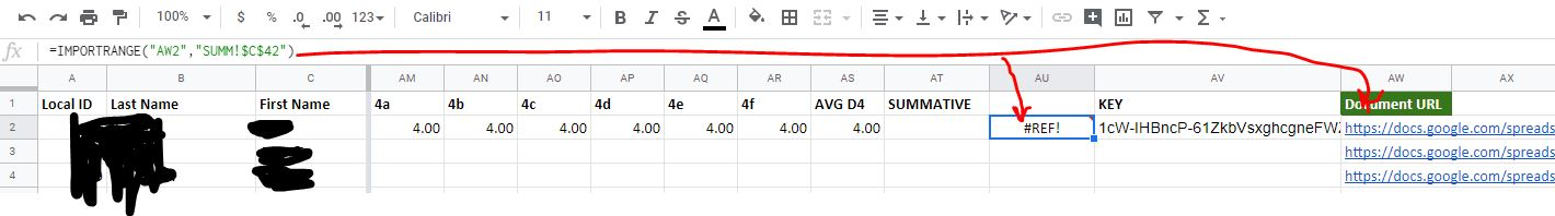Using IMPORTRANGE with multiple sheets and trying to extract same