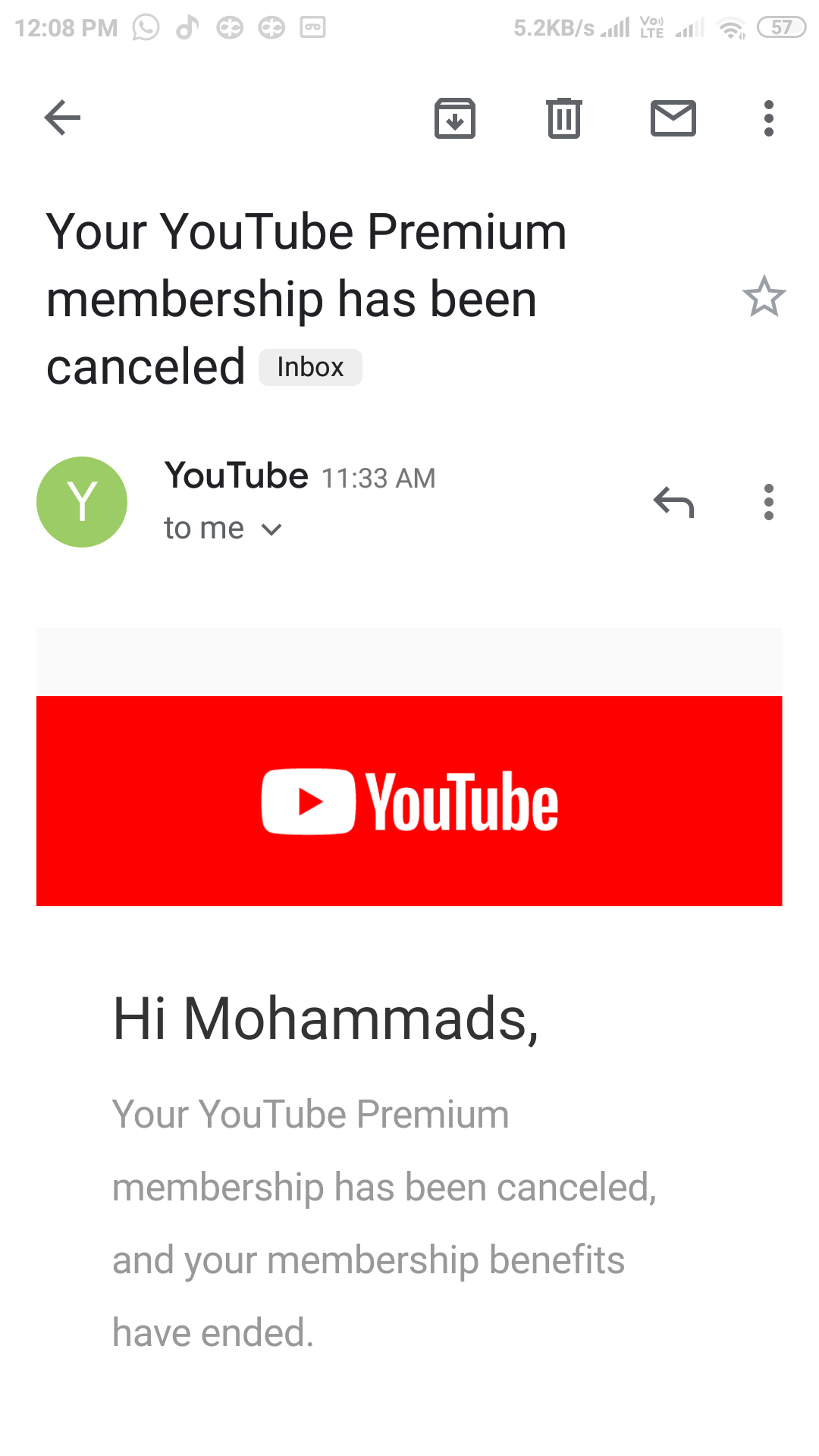 Amount Got Deducted From My Account Even After Cancellation Youtube Music Community