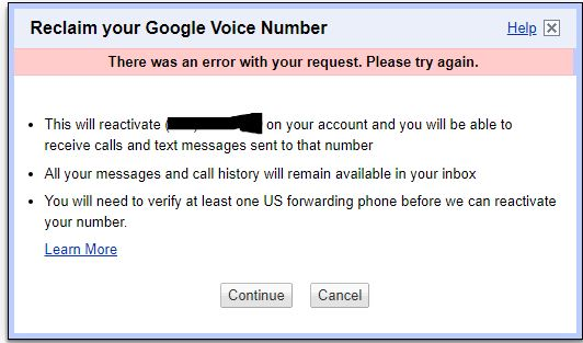 I deleted Google Voice number less than 30 days ago  I
