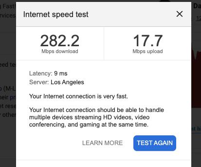 Google Drive Speed Test