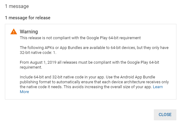 Google console play store not allow me to publish my game