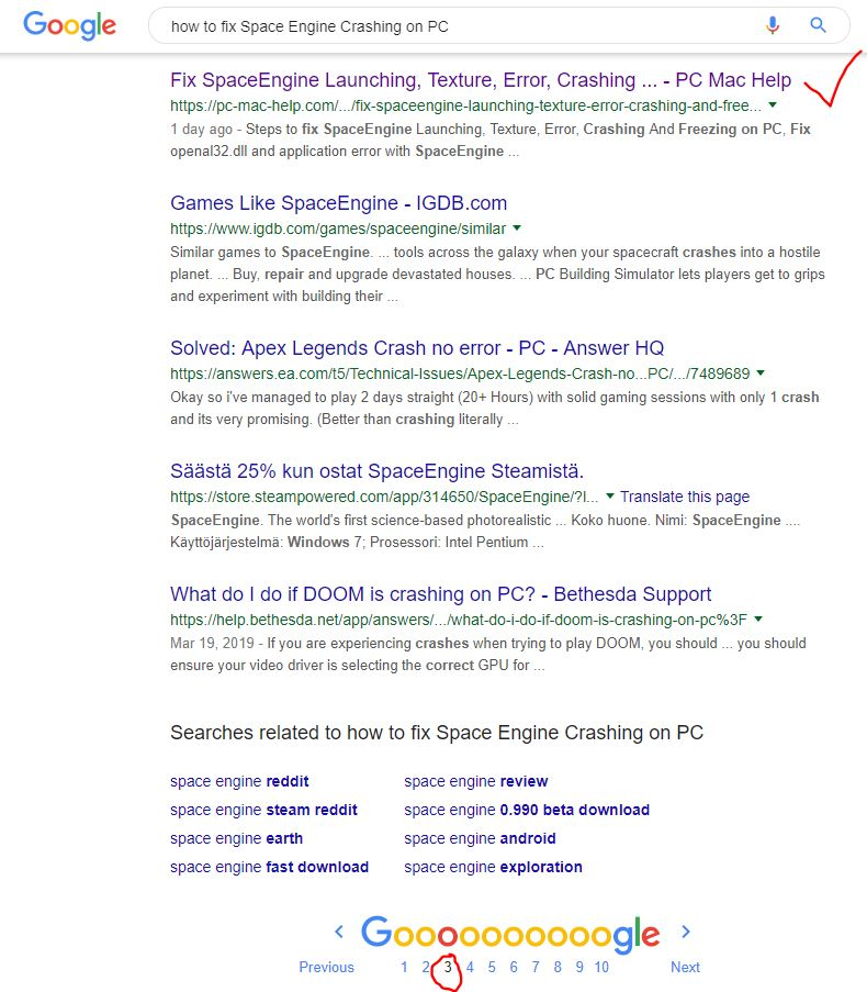 Search engine not showing the proper result - Google Search Help