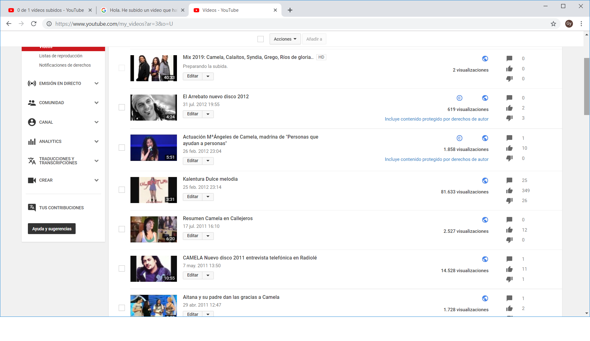 Mi Video No Sale En Youtube Ayuda De Youtube