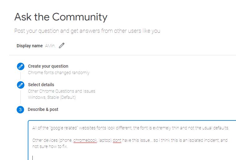 Chrome fonts changed randomly - Google Chrome Help