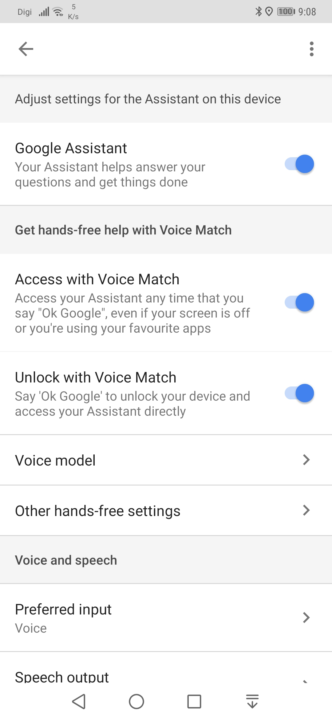 Unlock with Voice is not working in huawei mate 20 pro - Google