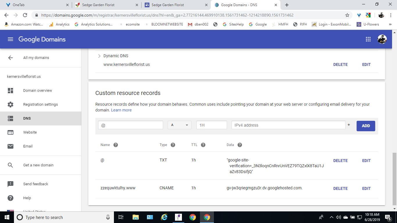 how do I get a new domain to go to a new sites site