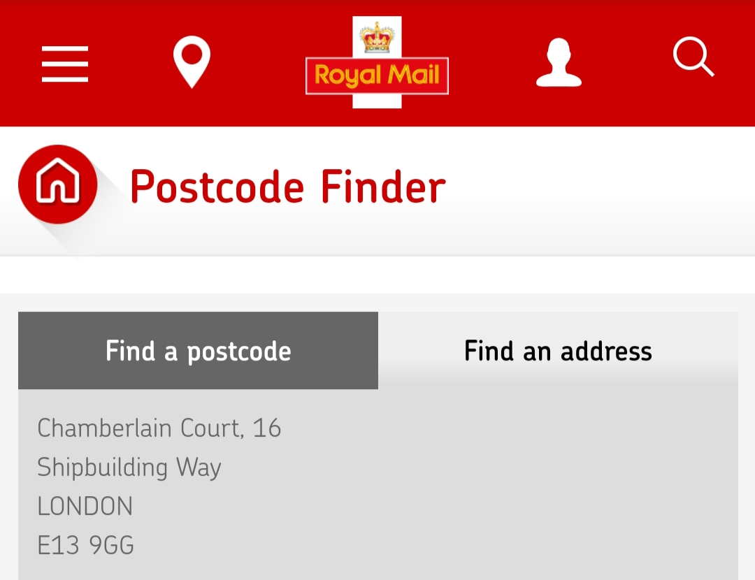 Postcode for my address on Google maps doesn't come up, but Royal ...