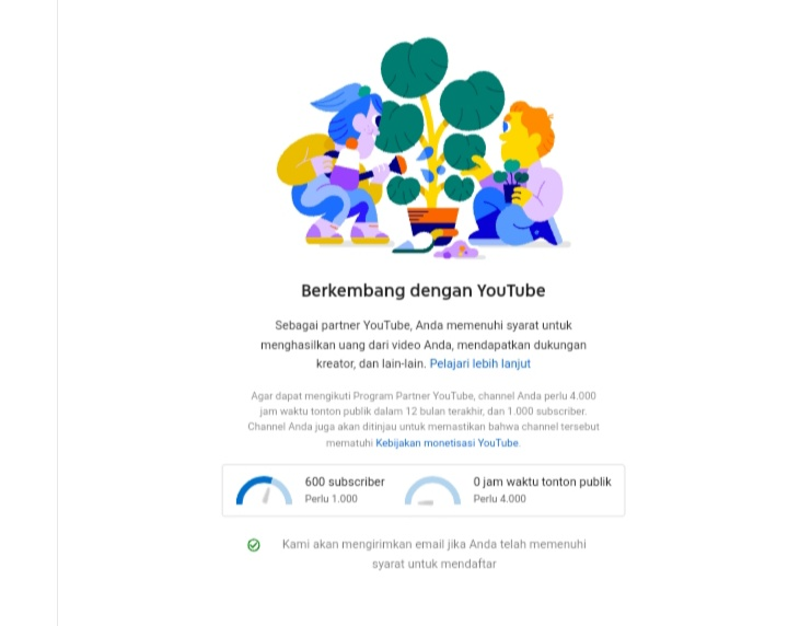 Jam Tayang 0 Komunitas Youtube