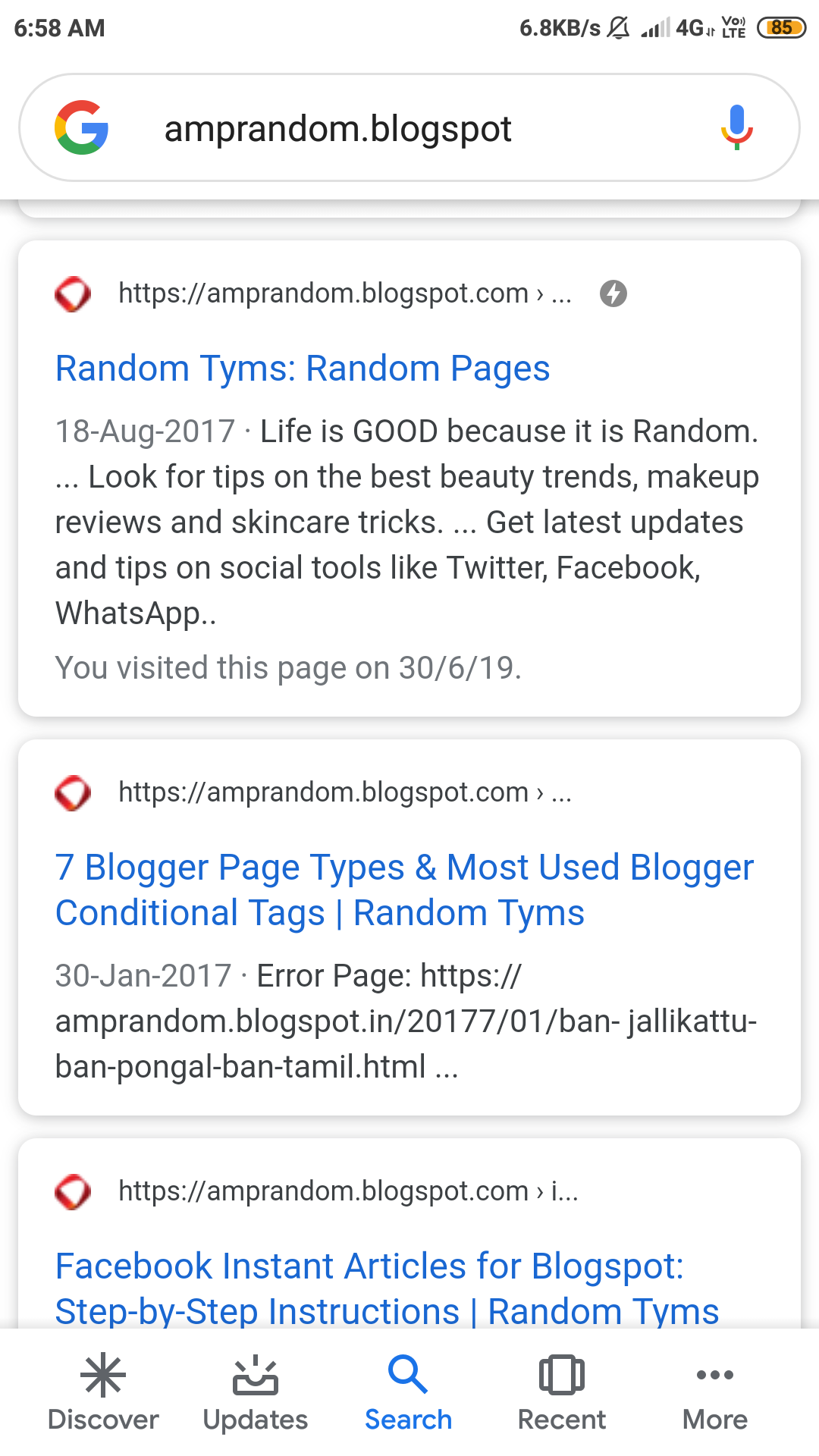 How to make AMP for blogger like amprandom blogspot