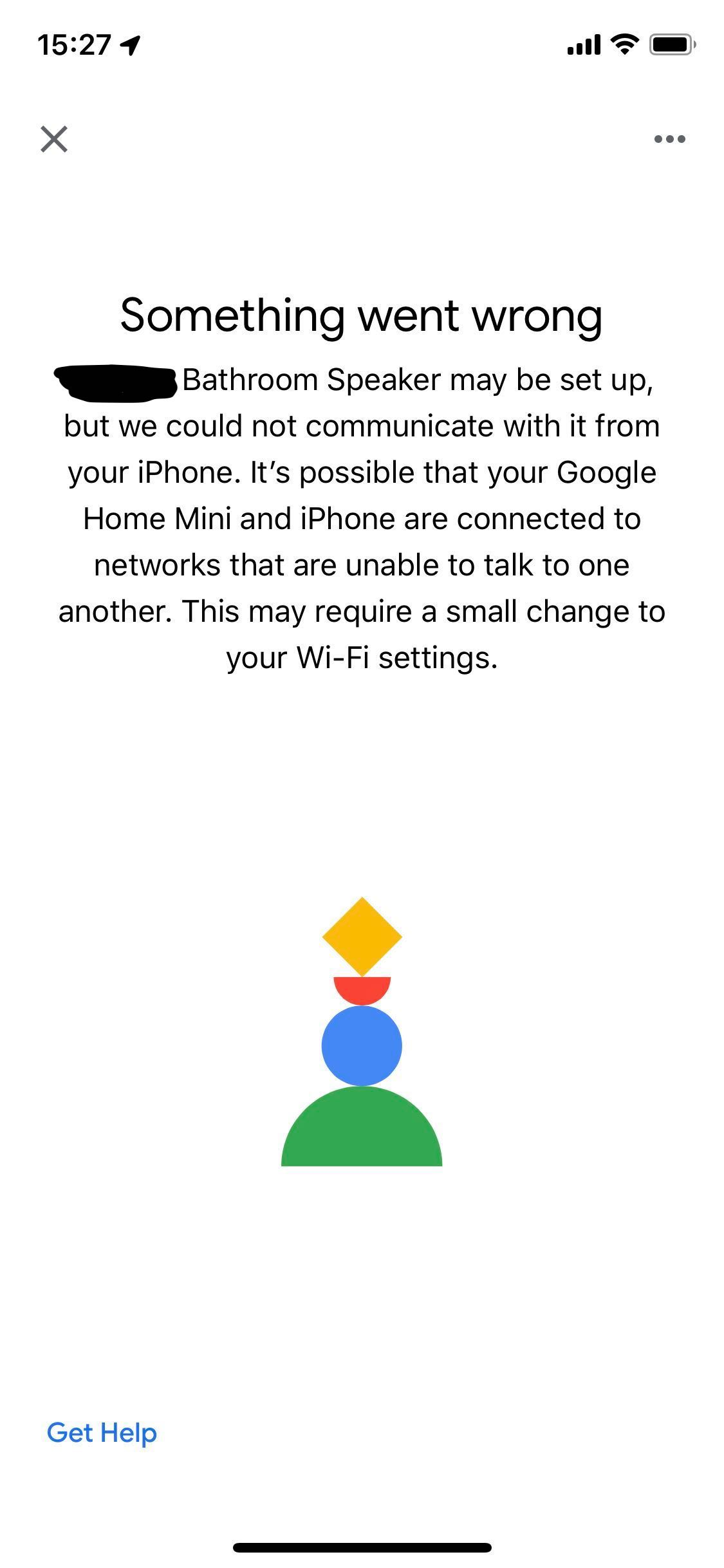 My Google Home Mini Gives Me A Could Not Communicate Error Message After It S Connected To Wifi Google Nest Community