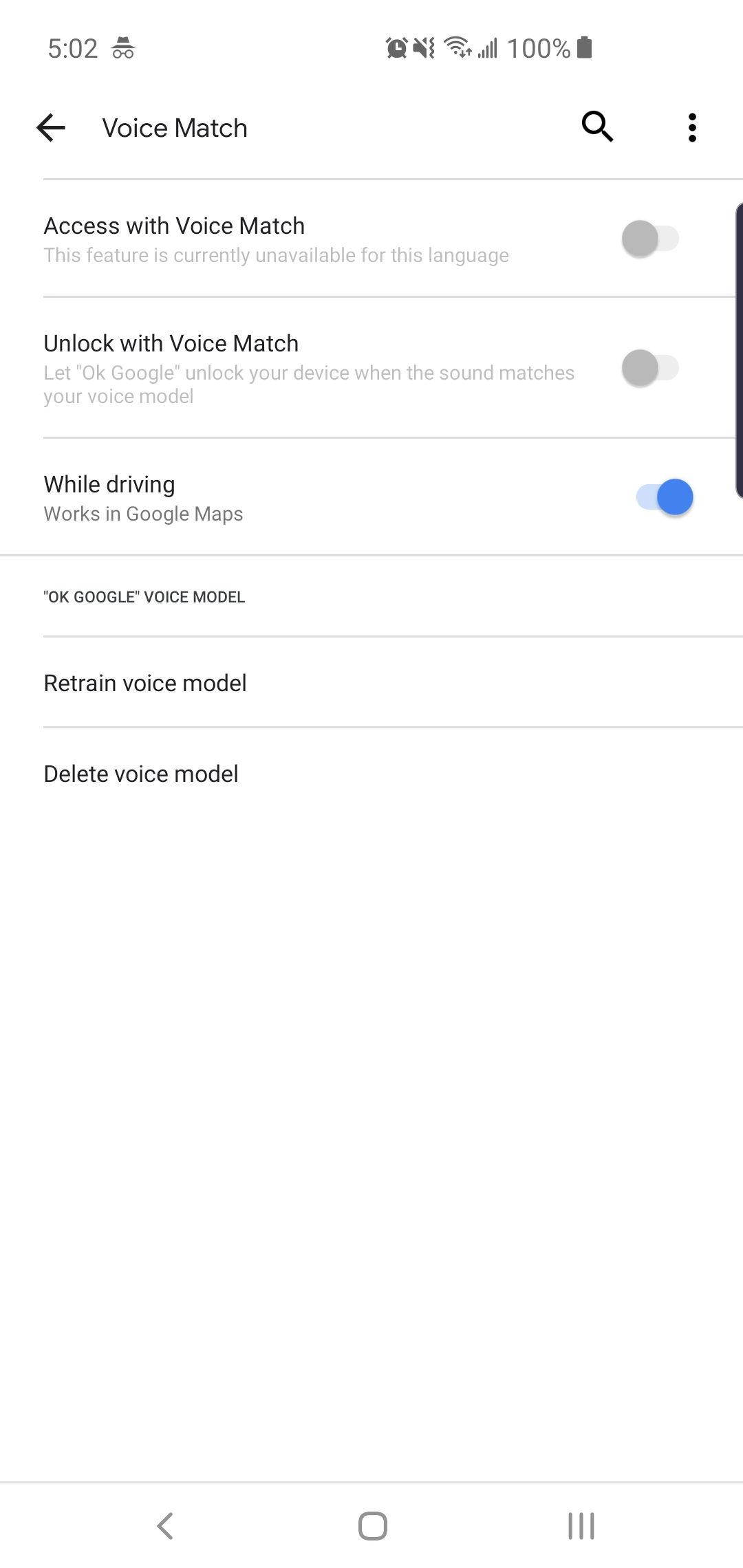 Ok Google Detection Not Working Cannot Turn On Voice Match Due To