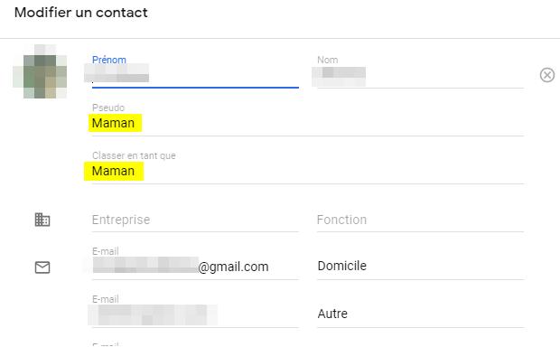 Champ Pseudo Des Contacts Ignore Par Gmail Web Gmail Community