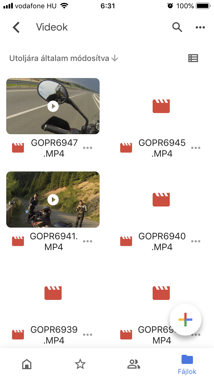 I upload mp4 (gopro3) files, and after months it writes that it is