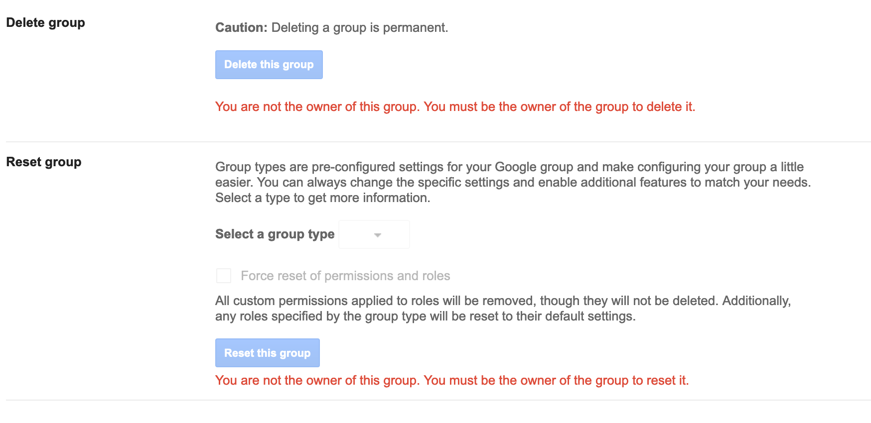 I'm my Google Group's manager—shouldn't I be able to change