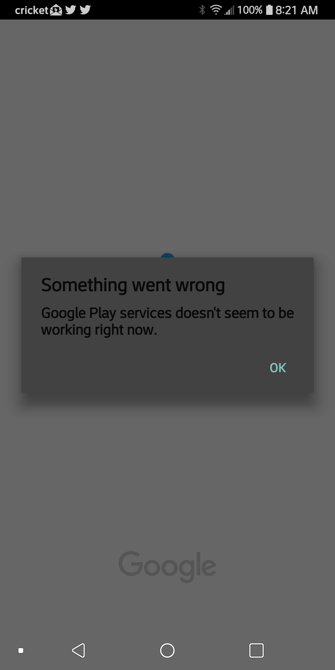 Google Play Services failed msg - Android Auto Help