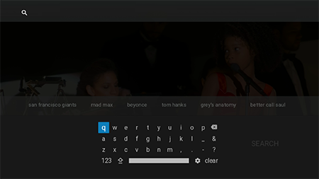 Perform a search on Google Fiber TV