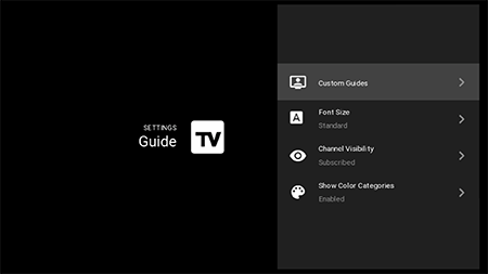 Display custom guides on legacy Fiber TV