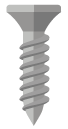 An illustration of a screw