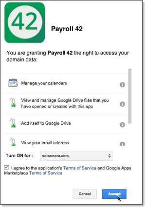 Shows deploying an app from Google Apps Marketplace