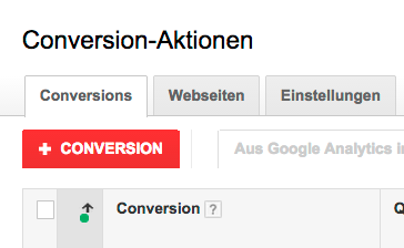 Neue Conversion-Aktion