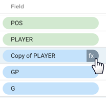 Edit the new field by clicking fx