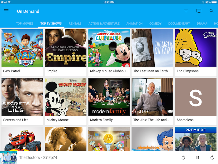 Browse your recorded content in the Fiber TV app (iOS)