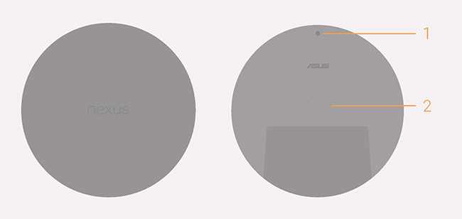 Nexus Player top and bottom