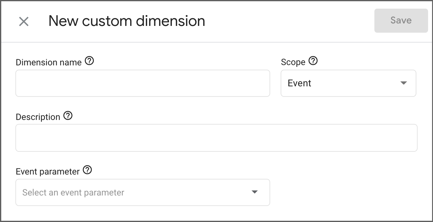 New custom dimension