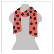 An illustration of a scarf that