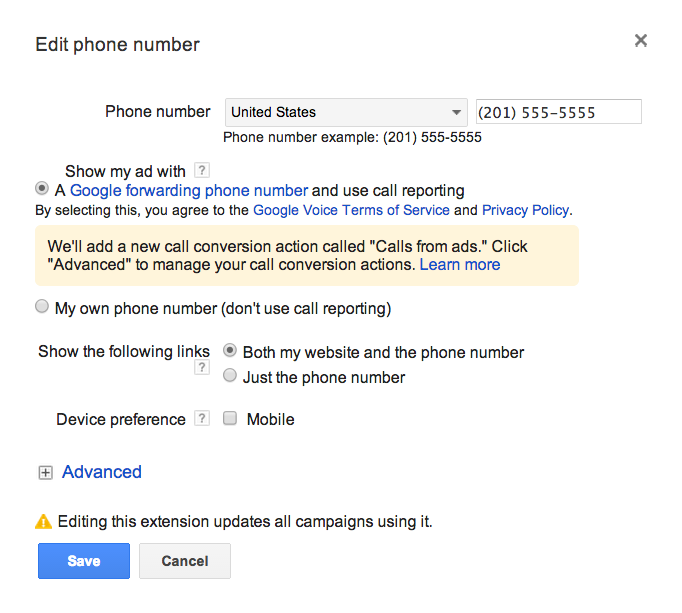 Add forwarding number to existing call ext.