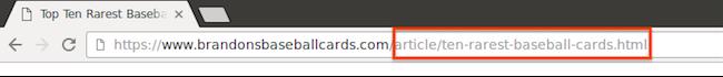 人が読める形式のわかりやすいページ名の URL。