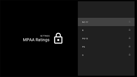 Restrict MPAA ratings movies on Google Fiber TV