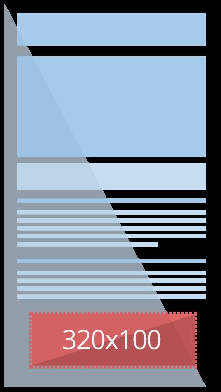 320 x 100 - Banner Grande Para Celular - Banner patrocínio e afiliados