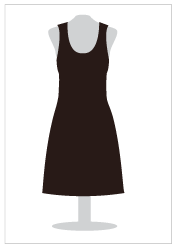 An illustration of a dress