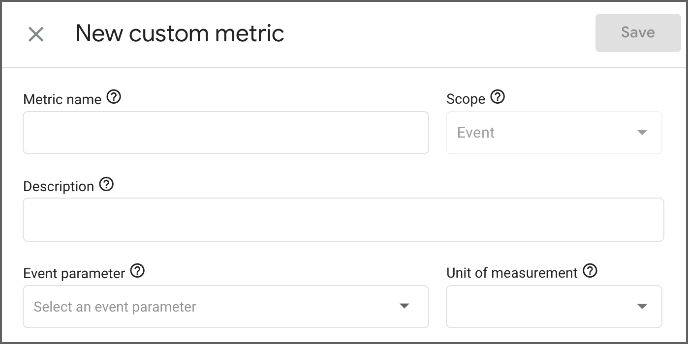 New custom metric