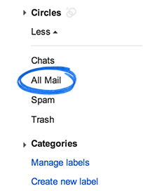 All Mail label