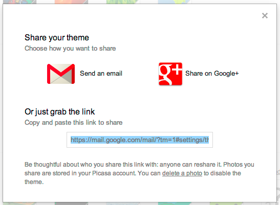 Image: How to Share Customized Theme in Gmail?