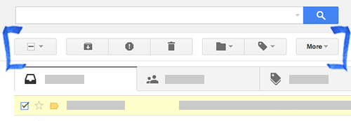 Gmail toolbar