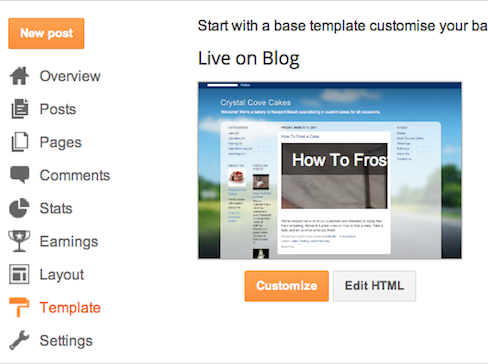 Create your own template blogger help for How to create your own blog template