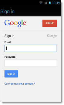 Set up Google Account on Android SSO, step 5
