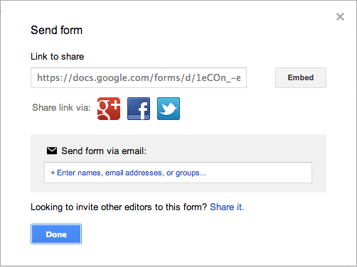 Collecting Form Responses And Sending Invitations To Respond To A