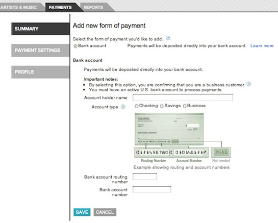 Add new payment form