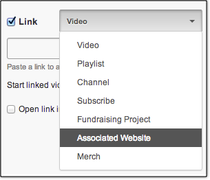 Associated Website Annotations Menu