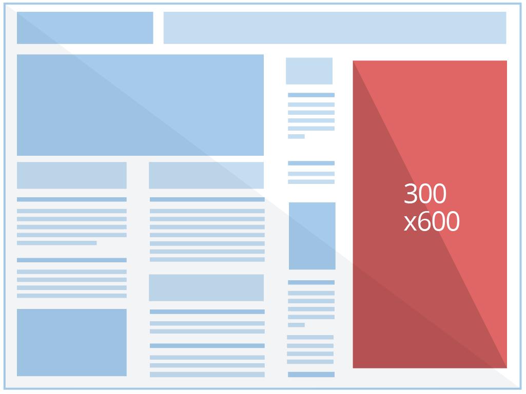 300 x 600 - Meia Página - Banner patrocínio e afiliados