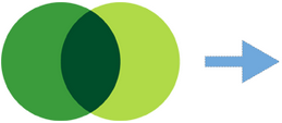 Enabler symbol of 2 intersecting dark green and light green circles with a right-pointing arrow to the right of the symbol