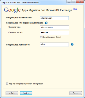 Gmail and Gmail IMAP migration step 2 with GAMME