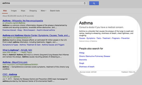 medical condition asthma example screenshot
