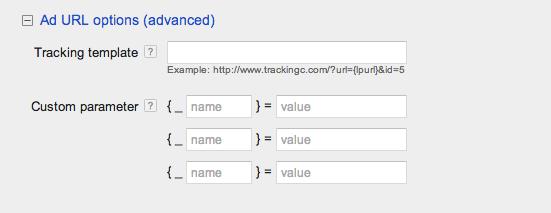 Entering URL options