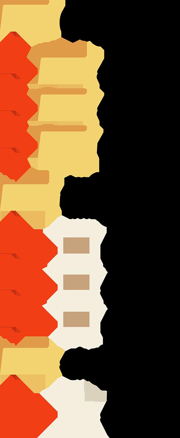 Exemplo de site organizado. Cada seção deve ficar em sua pasta própria, organizando os conteúdos.
