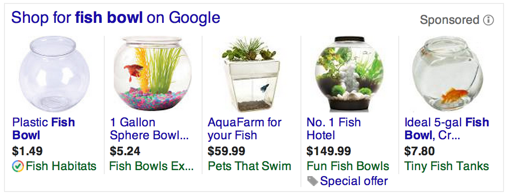 Product Listing Ads in Google Adwords